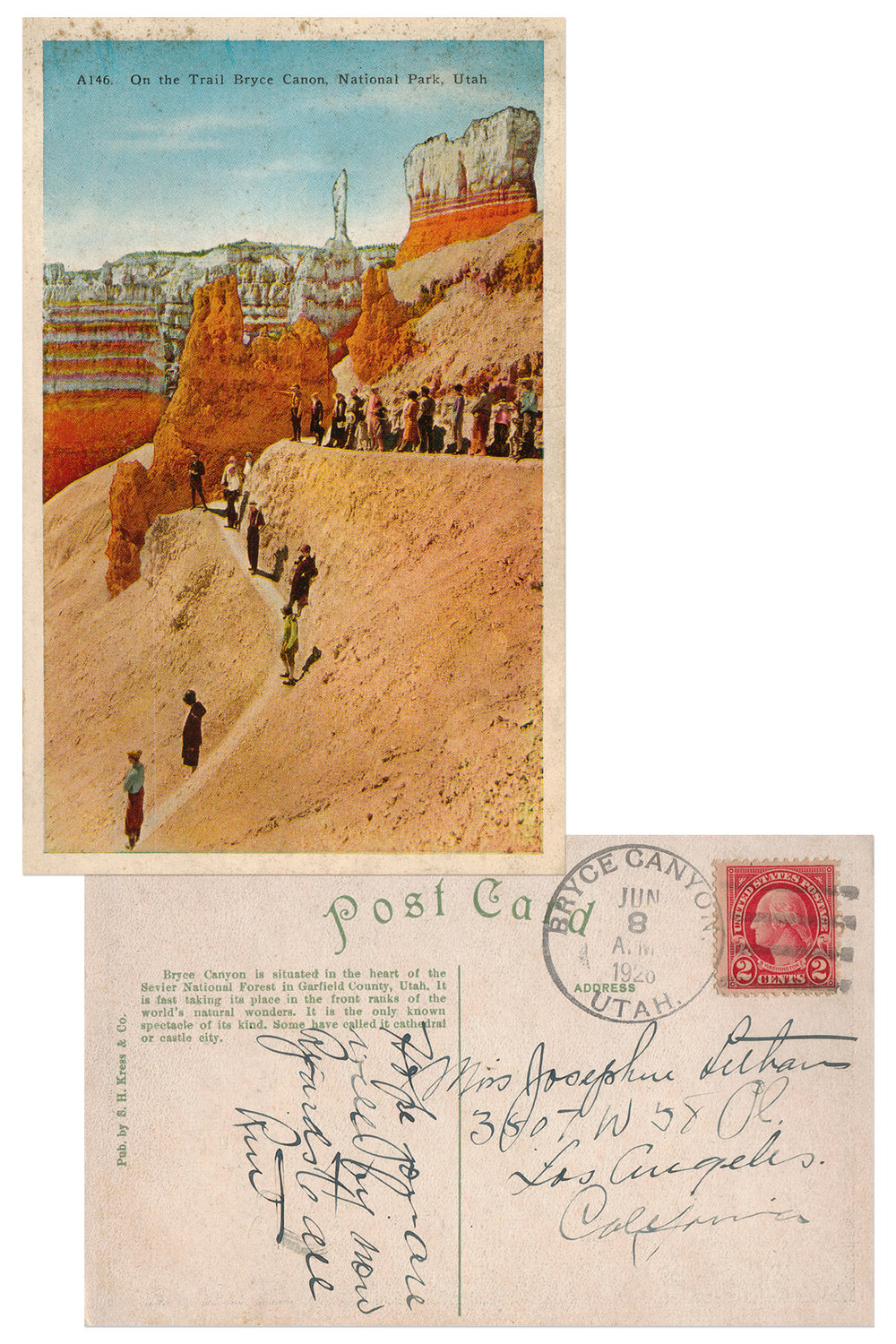 Bryce Canyon National Park Antique Postcard