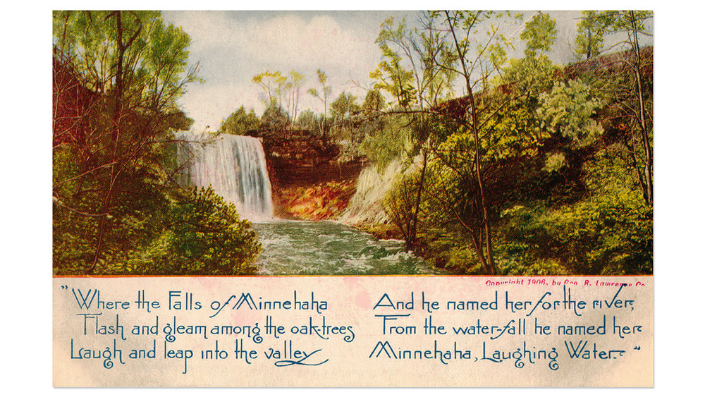 Minnehaha Falls Antique Postcard