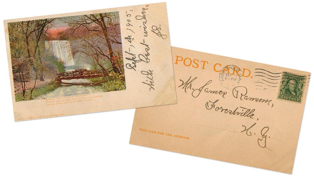 Minnehaha Falls Vintage Postcard 2