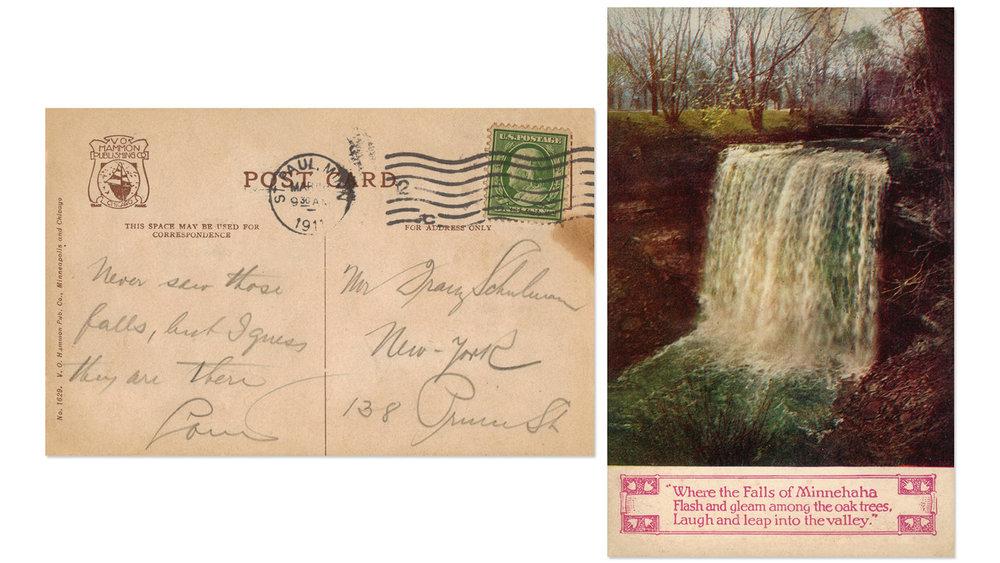 Minnehaha Falls Vintage Postcard 3