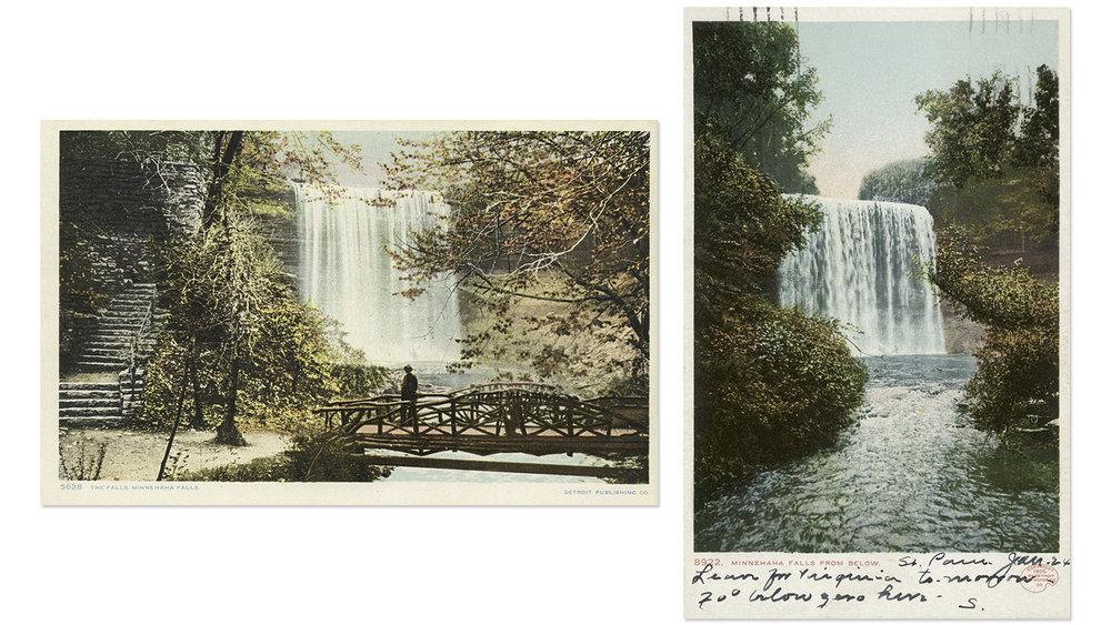 Minnehaha Falls Vintage Postcard 4