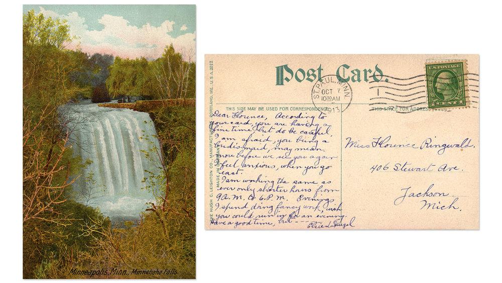 Minnehaha Falls Vintage Postcard 5