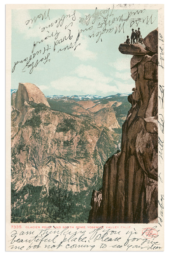 Yosemite National Park Antique Postcard