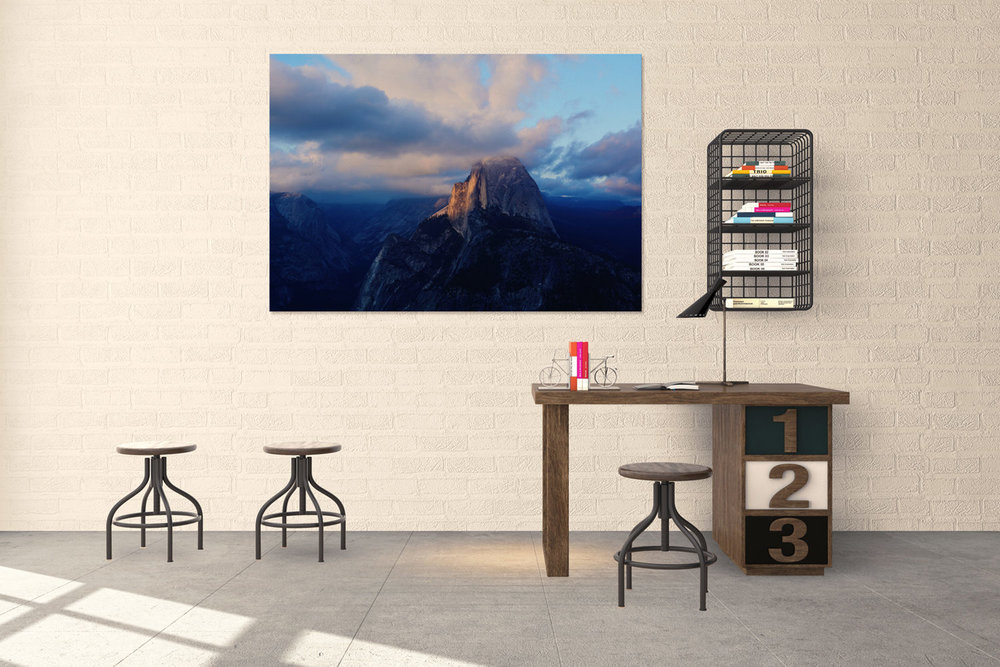 Yosemite National Park Half Dome Sunset Fine Art Print