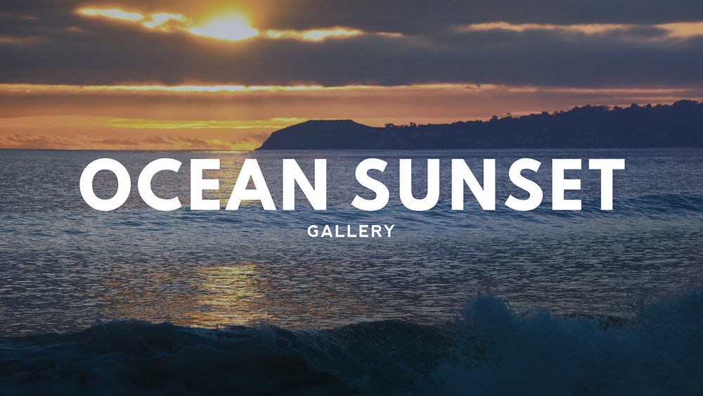 Ocean Sunset Fine Art Photography Gallery