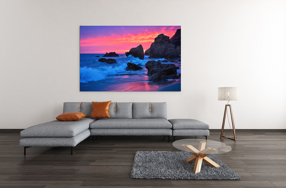 Malibu Ocean Sunset California Fine Art Print