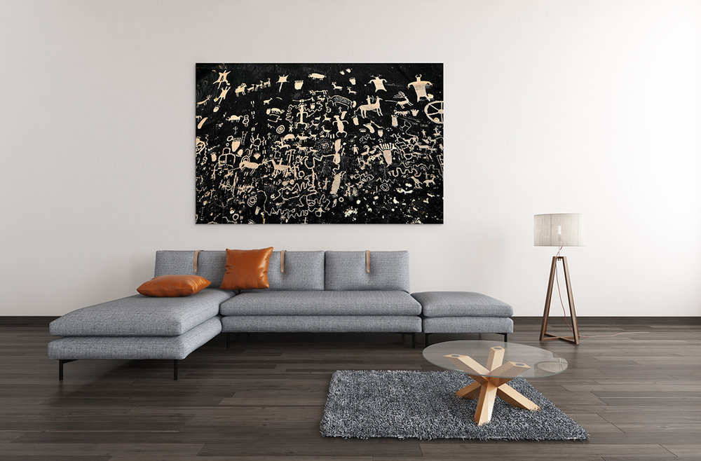 Newspaper Rock Petroglyphs Fine Art Print