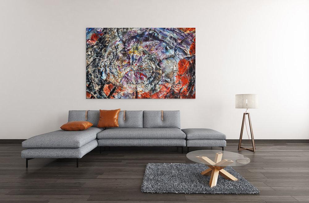 Arizona Rainbow Petrified Wood Fine Art Print