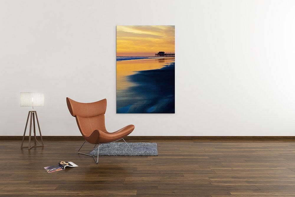 Newport Beach Pier Sunset Fine Art Print