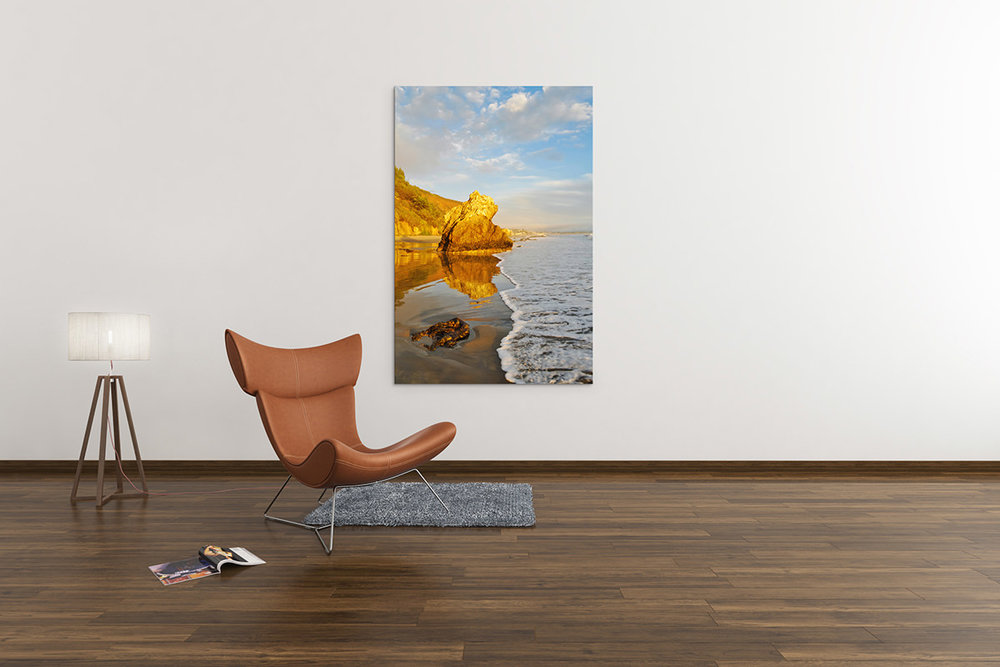 Golden Malibu Sunset Fine Art Print