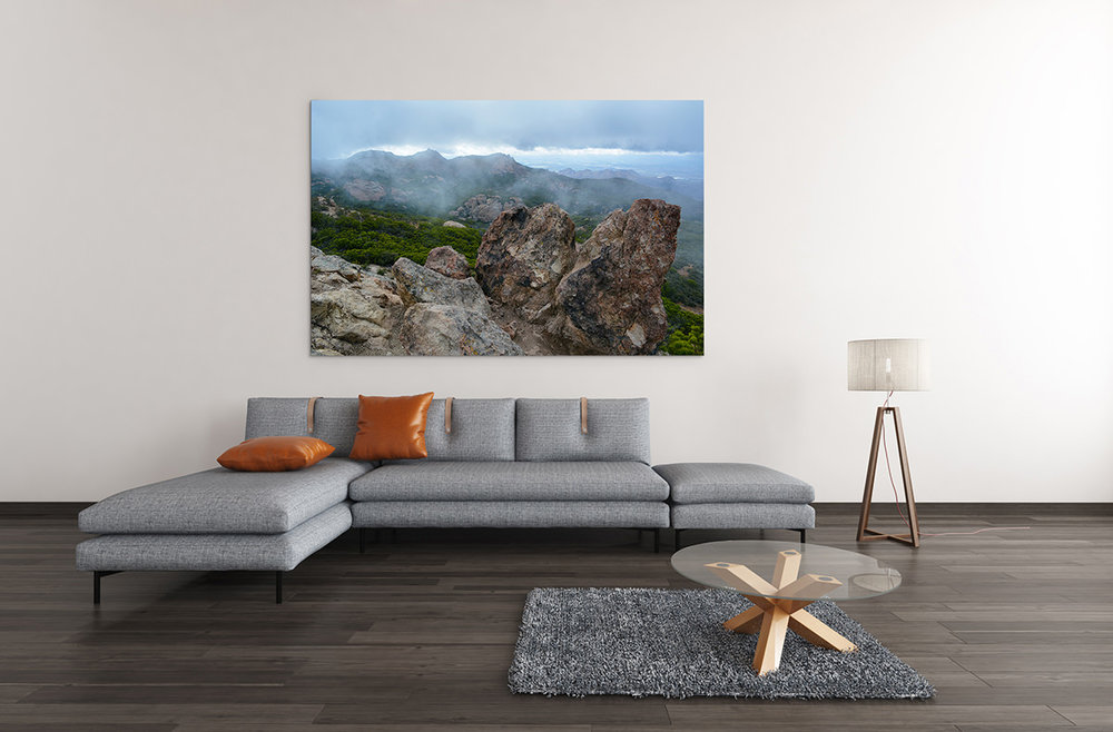 Sandstone Peak Santa Monica Mountains Fine Art Print