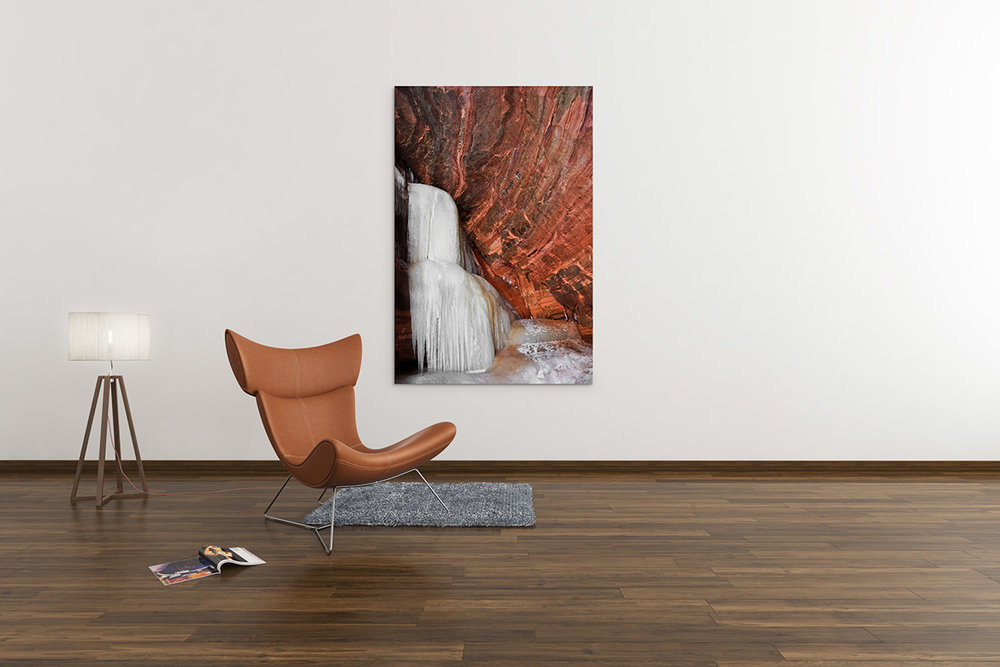 Apostle Islands National Lakeshore Frozen Waterfall Fine Art Print