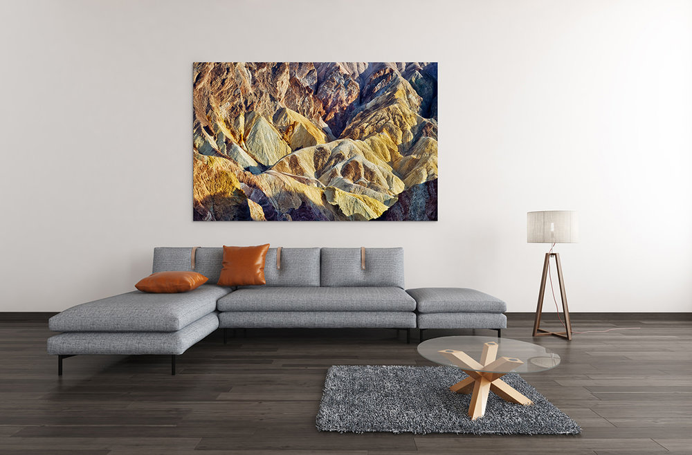 Death Valley Golden Canyon Fine Art Print