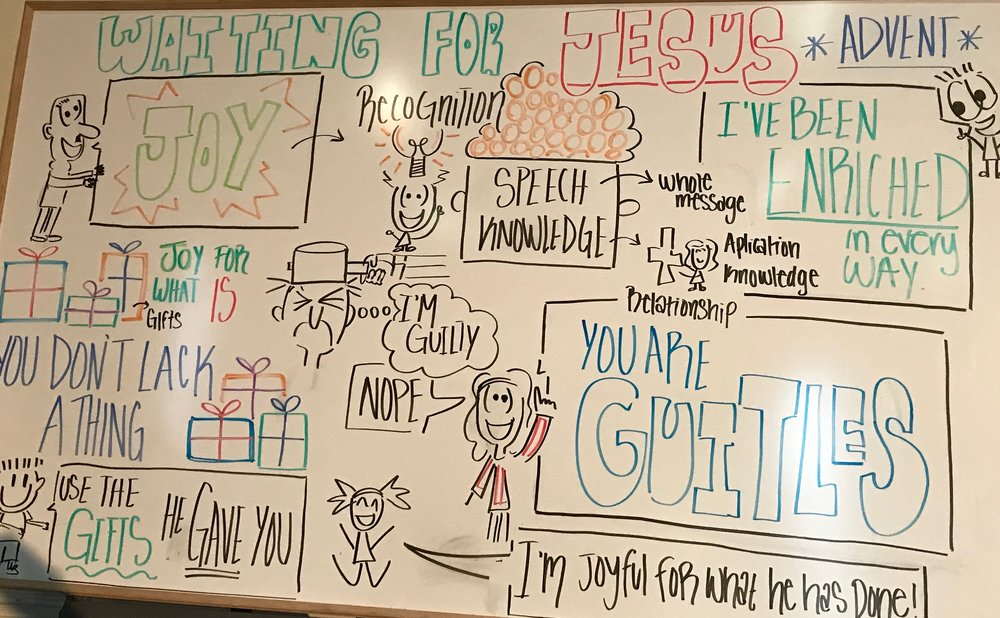 Storyboard by Manuela Cox from 12/16/18 - JOY