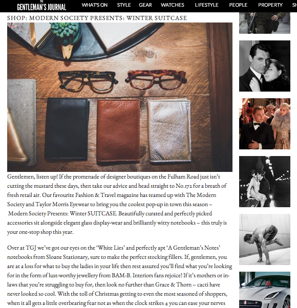 The Gentleman's Journal features BAM-B jewellery