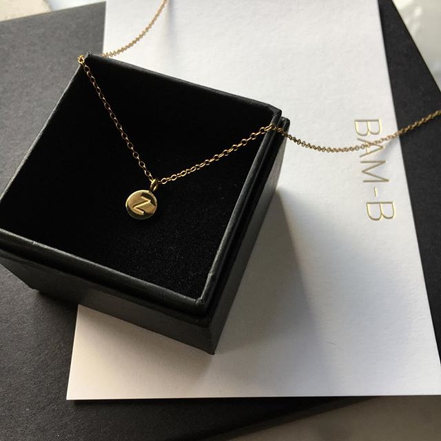 #details Small initial pendant laser engraved with your initial, engraving on the reverse now available. #gold #simplicity #favourites #packaging