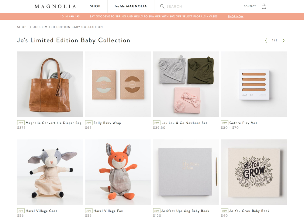 Jo's Limited Edition baby Collection on Magnolia -