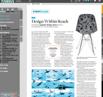 Arrive Magazine, March/April 2013 ARTS: Design Within Reach