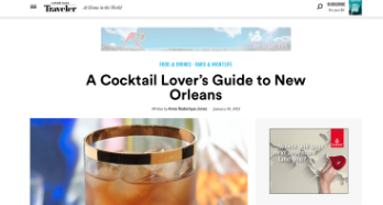 Conde Nast Traveler: A Cocktail Lover's Guide to New Orleans