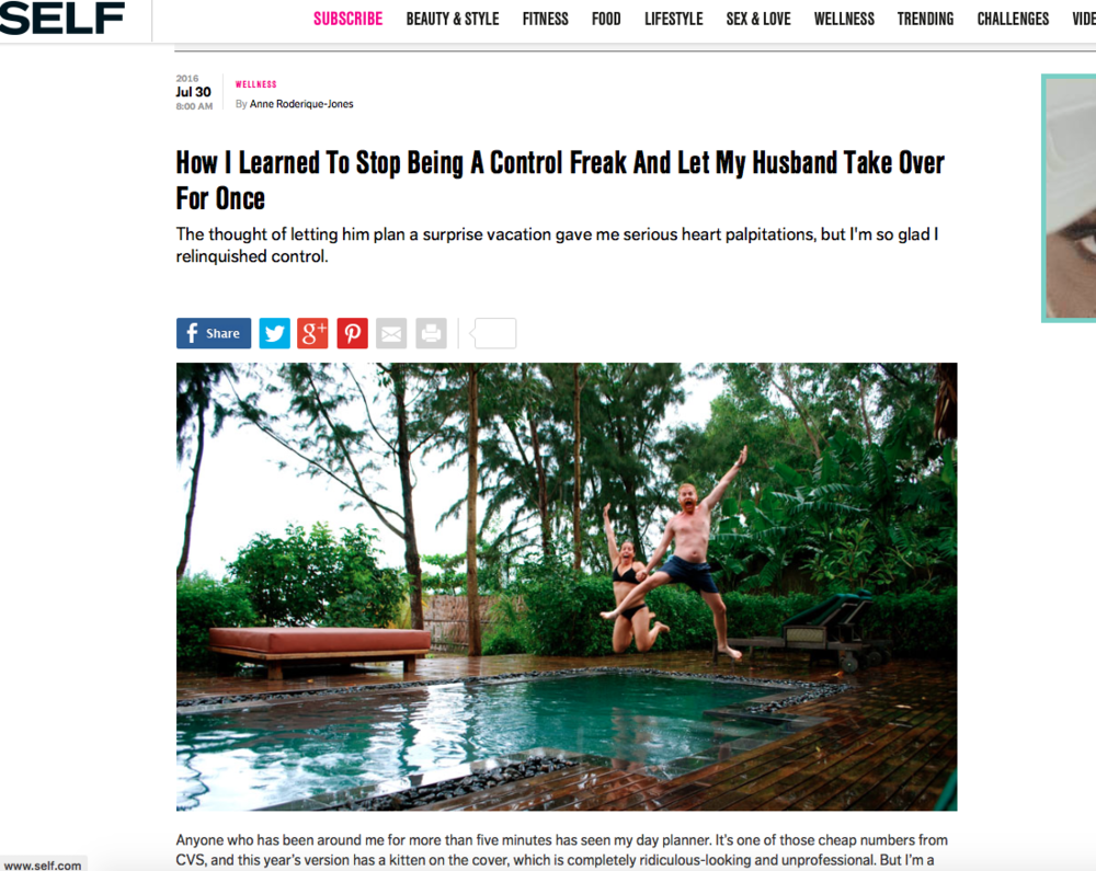 SELF Magazine: I Stopped Being A Control Freak