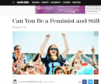 Marie Claire: Can You Be a Feminist and Still Love the NFL?