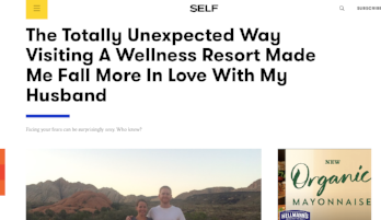 SELF: How Visiting A Wellness Retreat Was Great For My Marriage