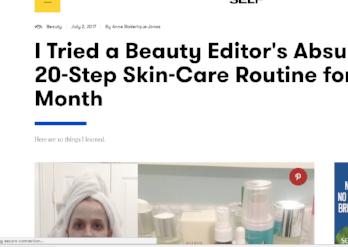 SELF.com: I Tried a 20-Step Beauty Routine