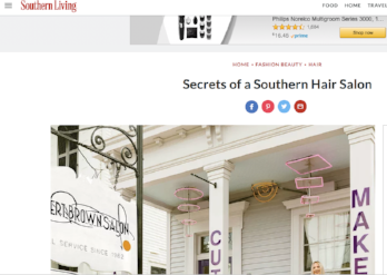 Southern Living Oct 17: Secrets of a Southern Beauty Salon Feature