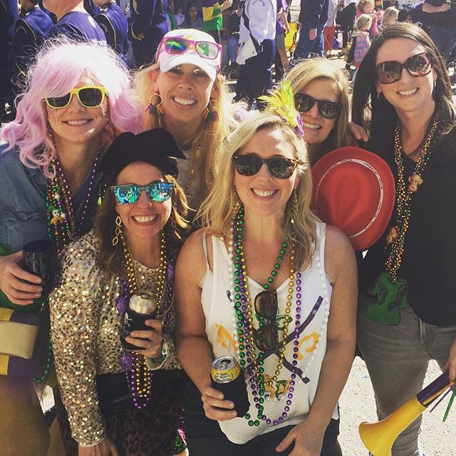 Sequins, glitter, and wigs. Best time of year with the best of friends. #mardigras2019