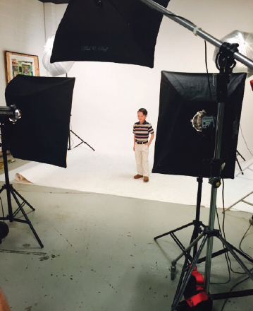 AOS Student vlad fennell is looking good at his hamrock's photoshoot!