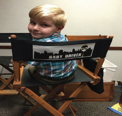 """aos student brogan hall on set of the major motion picture """"baby driver!"""""""