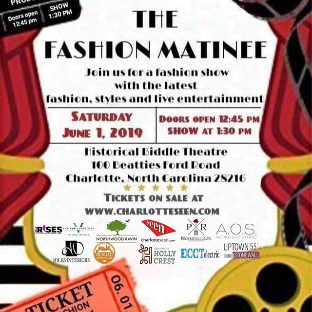 Several AOS Students will be featured in this show.⠀ ⠀ Tickets on sale at buff.ly/2B80P2s THE FASHION MANITEE Fashion Show - Doors Open 12:45 pm - SHOW @ 1:30 pm Saturday, June 1, 2019, The Biddle Theatre/Location Historical Johnson C. Smith,100 Beatties Ford Road, Charlotte, NC 28216 - Kids and Teenager Fashion Show.  Rule is a fun, creative, confidence-building fashion show experience for kids and teenagers. A Fashion Show premiering fashion, style, live entertainment and a Tribute to the Movies.⠀ #actingoutstudio #auditions #model #modeling #runway #showcase