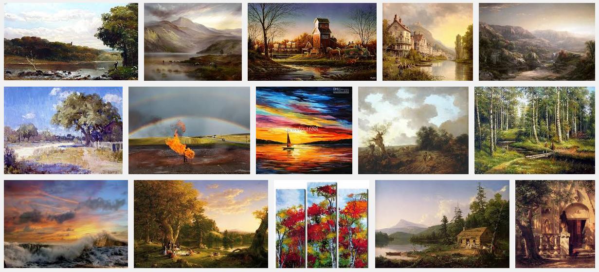 'oil landscape' images