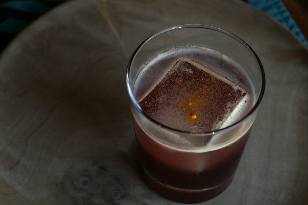 Elderberry Hawthorn Ginger Sour