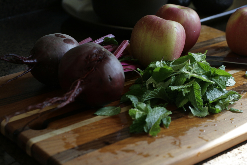 beets-mint-apples for juice