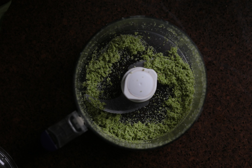 Process the salt and tips in a food processor until finely ground