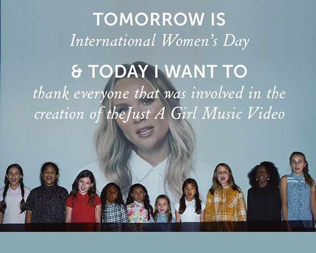 Tomorrow is International Women's Day & today I want to thank all the incredible people that helped make the Just A Girl music video possible ❤️ @lbrugliera @ben_tedesco @erosey8 @limesantamonica  @electric.theatre.collective @pollutiontv @smasherbrown @paintscaping @johnnymarnell @believefitnessstudio @youarecanadian #alextedesco @charitydaw