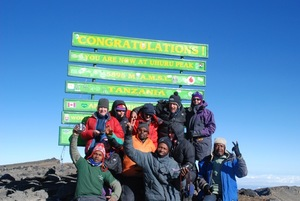 Summit Mount Kilimanjaro, Tanzania Explorers around the world aspire to summit Mt Kilimanjaro (5895m), the highest peak in Africa. The ascent does not require any technical climbing, but the trails are demanding and a sound level of fitness and acclimatization abilities are essential prerequisites. From the alluring summit of Uhuru Peak (5895m), we will have amazing 360 degree views of the surrounding plains. An optional 2 day supplement at the end of your trek will take you to Kenya to visit ICRI's programs for children and families in Nairobi.  More Information→