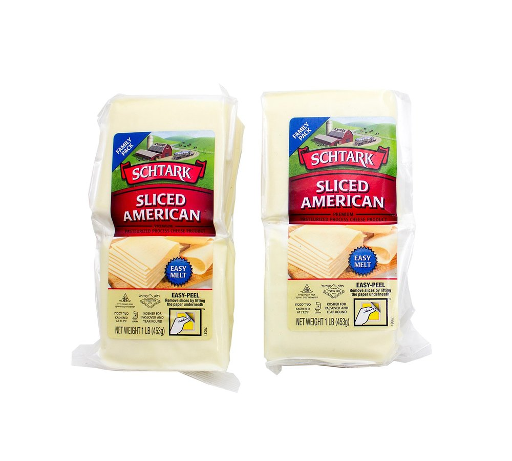 Schtark Super Kosher Cheese American Slices                                             1 Pound (Pack of 2)