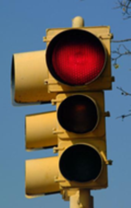 Traffic lights code color redundantly with location (e.g., red + top and green + bottom).