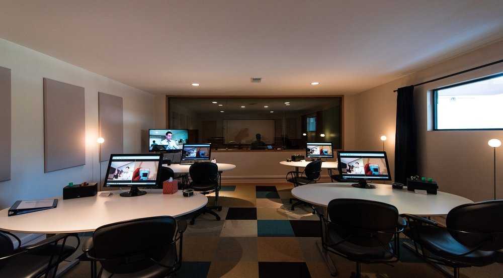 Image of the observation area at our usability testing agency research lab