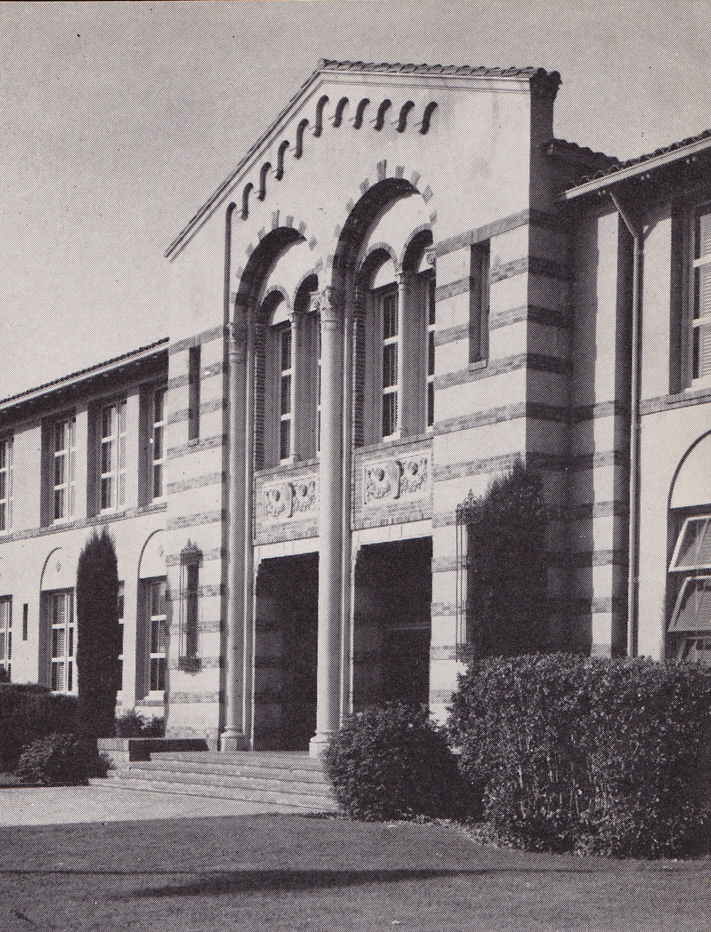 The Arches (front of the original School Building), c. 1923