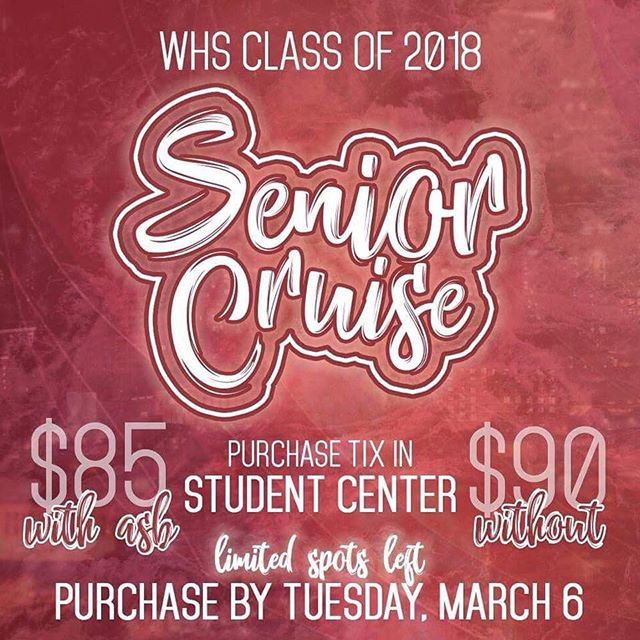 SEAS THE DAY 🌊 Make a SPLASH 💦 AT SENIOR CRUISE ⚓️🚢 as we embark on the FINAL STRETCH 🙆♂️ OF SENIOR YEAR 🐾📚! 🚨🚨 SPOTS ARE RUNNING OUT 🚨🚨 The LAST DAY to buy a Senior Cruise ticket 🎟💸 is TUESDAY, MARCH 6—if spots haven't already run out yet. Don't miss your shot 🏀😤! GET A SPOT ON THE BOAT ⛵