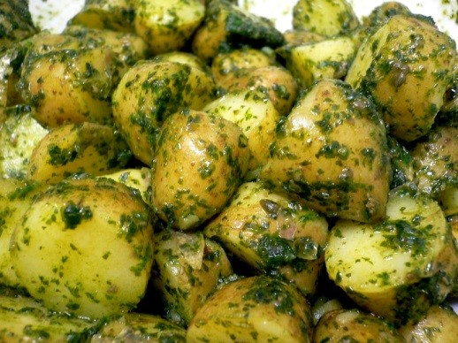 Potatoes in Green Sauce