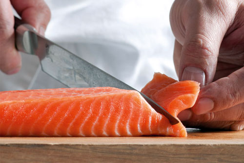 Breaking down and filleting a whole fish to create an upscale appetizer and entrée. -