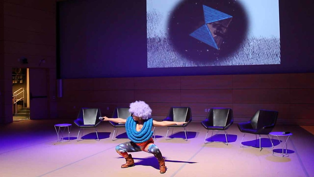 "Performed at : The New School ""AfroFuturism Conference"" May 2015 The Bronx Museum ""Bronx Calling: AIM Biennial Exhibition"" July 2015 The Bruce High Quality Foundation Open Studios July 2015"