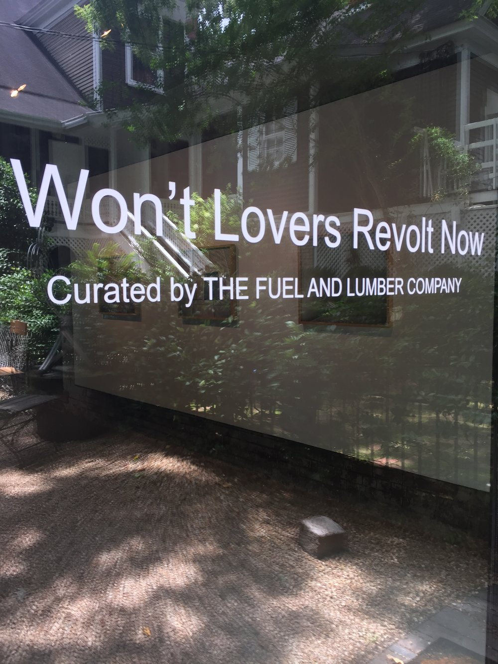 """Won't Lovers Revolt Now"" at Whitespace Gallery"