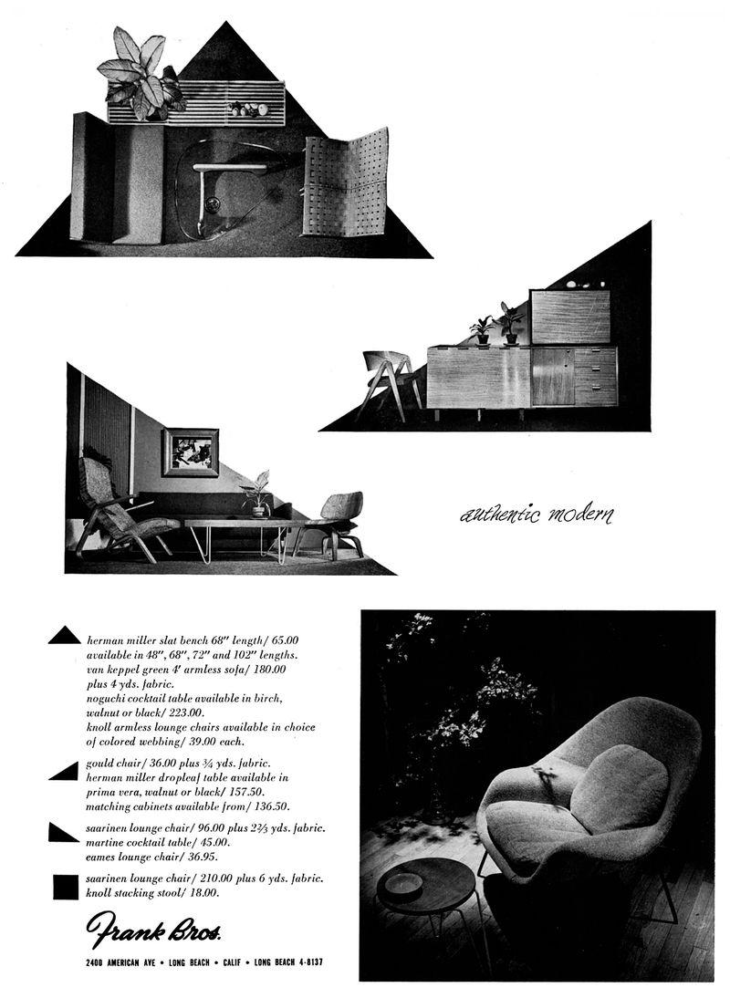 Frank Bros. advertisement, 1949 MidCentArc @ flickr