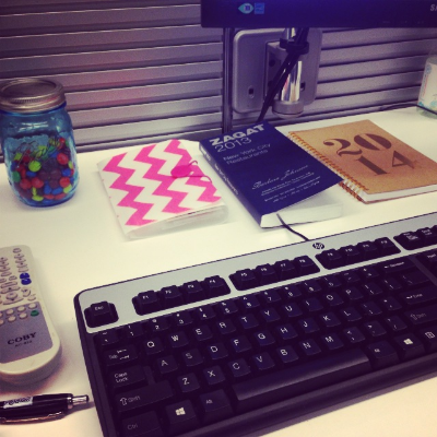 { My desk at work on a normal day }