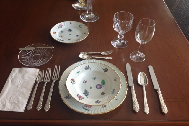 I took an etiquette class to brush up on my table setting skills.